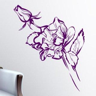 Samolepka na zeď Růže 012 - 61x120 cm