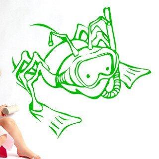 Samolepící dekorace Žába 006 - 109x100 cm
