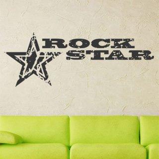 Samolepka na zeď Rock Star 001 - 120x43 cm