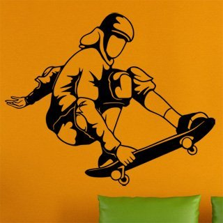 Samolepka na stěnu Skateboardista 007 - 146x120 cm