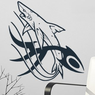 Samolepící dekorace Žralok 001 - 113x120 cm