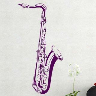 Samolepka na zeď Saxofon 001 - 60x123 cm