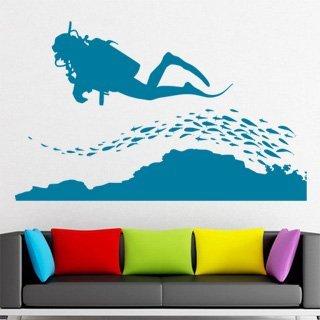 Samolepka na stěnu Potápěč 002 - 198x120 cm