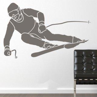 Nálepka na zeď Lyžař 001 - 157x100 cm