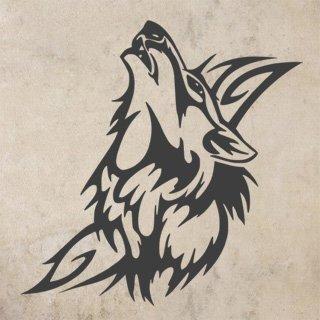 Samolepka Vlk 004 - 80x82 cm