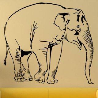 Samolepka Slon 1132 - 89x80cm