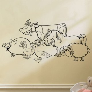 Samolepka na zeď Farma 002 - 123x60 cm