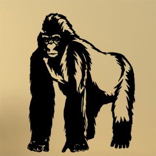 Samolepka na stěnu Gorila 001 - 120x156 cm
