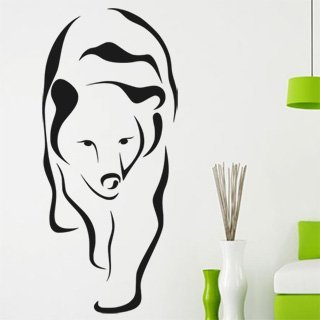 Samolepka na stěnu Medvěd 003 - 120x272 cm
