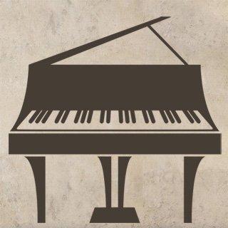 Nálepka na zeď Piano 009 - 120x116 cm