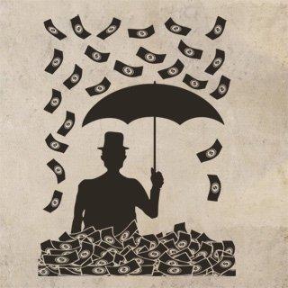 Samolepka Peníze 001 - 80x106 cm