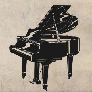 Samolepící dekorace Piano 001 - 120x149 cm