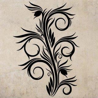 Samolepka na stěnu Ornamenty z rostlin 031 - 120x171 cm