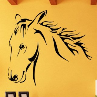 Samolepka na stěnu Kůň 0385 - 132x120 cm
