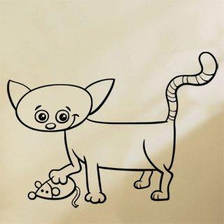 Samolepka Kočička 0531 - 100x75 cm