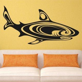 Samolepka na zeď Žralok 007 - 120x61 cm