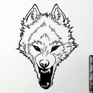 Samolepka na zeď Vlk 003 - 80x108 cm