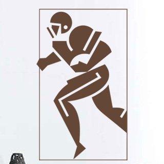 Samolepka na zeď Americký fotbalista 001 - 60x100 cm