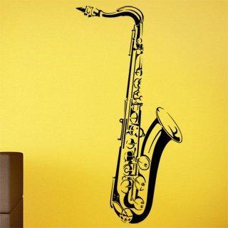 Nálepka na zeď Saxofon 001 - 120x245 cm