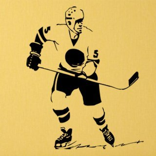 Samolepící dekorace Hokejista 005 - 100x123 cm