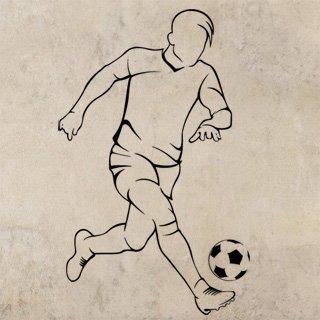 Samolepka na zeď Fotbalista 0584 - 60x96 cm