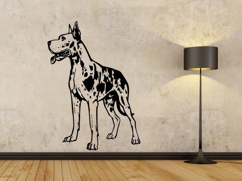 Samolepka na zeď Doga 003