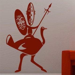 Nálepka na zeď Afričani 002 - 120x184 cm