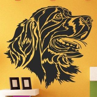 Samolepka na zeď Pes 006 - 65x60 cm