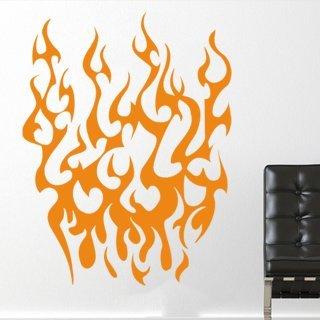 Nálepka na zeď Plameny 020 - 100x129 cm