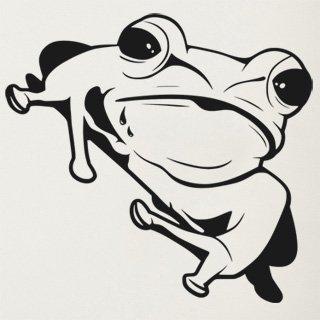 Samolepka na zeď Žába 007 - 64x60 cm