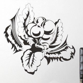 Samolepící dekorace Kytky 002 - 120x120 cm