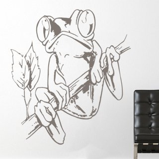 Samolepící dekorace Žába 003 - 107x120 cm
