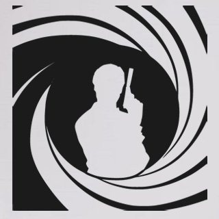 Nálepka na zeď James Bond 002 - 114x120 cm