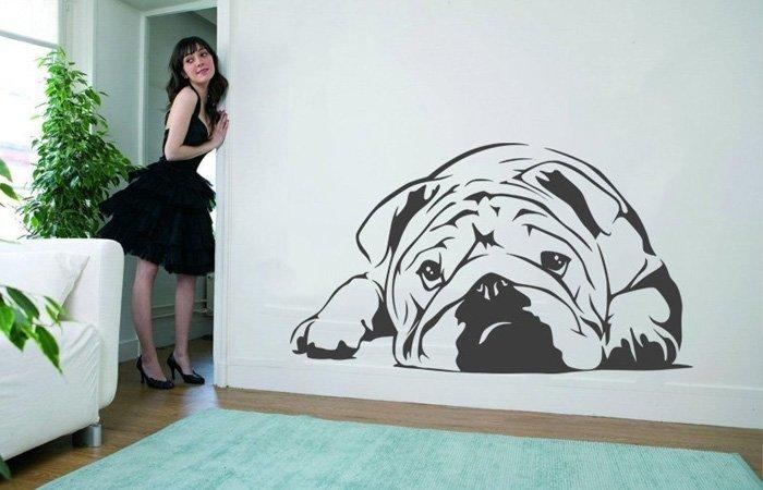 Roztomilá psí samolepka jen pro vás