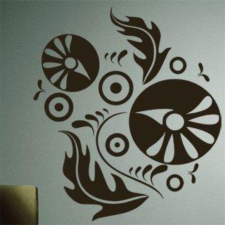 Samolepící dekorace Ornamenty z rostlin 011 - 106x120 cm