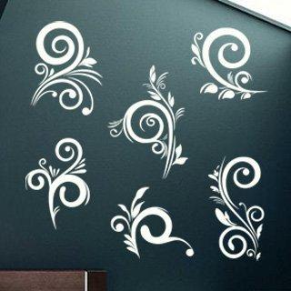 Samolepka na zeď Ornamenty z rostlin 042 - 123x120 cm