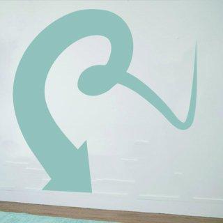 Samolepka na zeď Šipka 033 - 63x60 cm