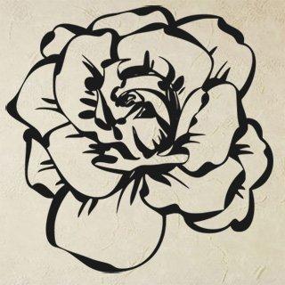 Samolepka na zeď Růže 014 - 60x60 cm