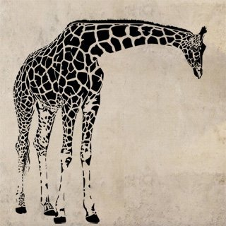Samolepka Žirafa 004 - 114x120 cm