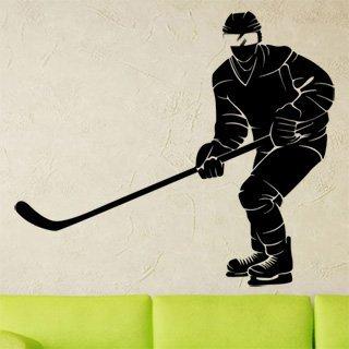 Nálepka na zeď Hokejista 0604 - 140x120 cm