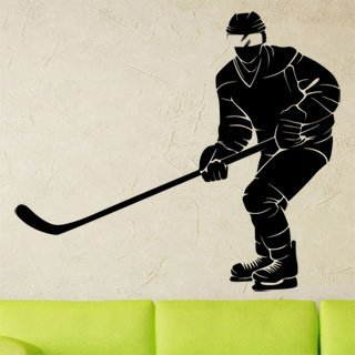 Samolepka na zeď Hokejista 0604 - 70x60 cm