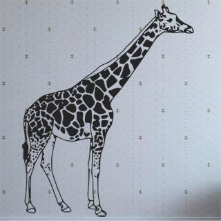 Samolepka Žirafa 002 - 120x148 cm