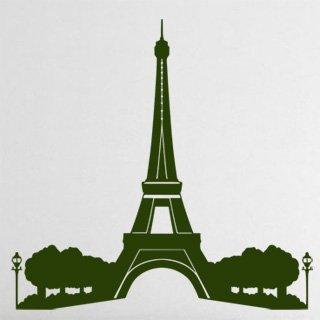 Samolepka na zeď Eifelova věž 008 - 63x60 cm