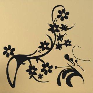 Samolepka Ornamenty z rostlin 043 - 85x80 cm
