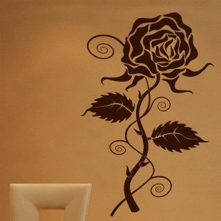Samolepící dekorace Růže 002 - 100x154 cm