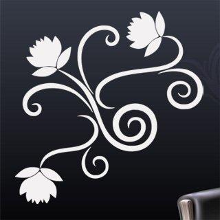 Samolepící dekorace Ornamenty z rostlin 019 - 120x123 cm