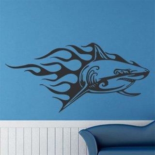 Samolepka na zeď Žralok 010 - 125x60 cm
