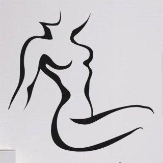 Samolepící dekorace Žena 012 - 124x120 cm