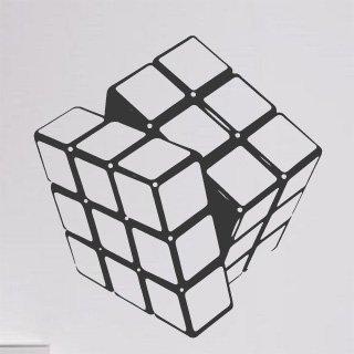 Nálepka na zeď Rubikova kostka 001 - 115x120 cm