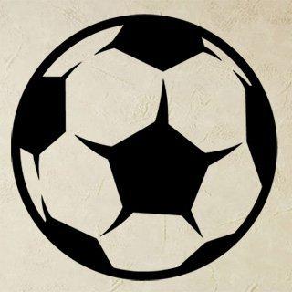 Nálepka na zeď Fotbalový míč 009 - 120x120 cm